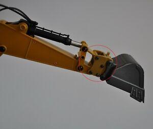 Schnellwechsler für AMEWI / Huina Vollmetall Bagger Version 1-4 gelb