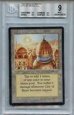 MTG Arabian Nights City of Brass BGS 9.0 Mint Magic Card 3 X  9.5 grades 8676