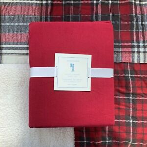 Pottery barn Kids Solid Flannel Sheet Set twin Dark Red feels so soft