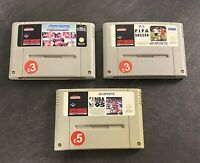SNES Games Bundle - NBA, Striker, FIFA Soccer,  - Super Nintendo - Cart Only X3