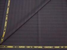 Super 130's striped suiting fabric tessuto rigato CARNET