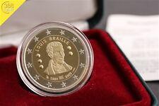 2 Euro Belgien 2009 PP 200. Geburtstag Louis Braille