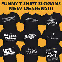 Funny Mens T-Shirt Printed Quality Slogan Tees Novelty Joke Tee Shirt Gift