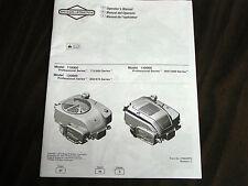BRIGGS & STRATTON SMALL OHV ENGINE OPERATOR'S MANUAL MODEL#110000/120000/140000