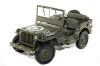 1:18 Welly Willys Jeep US Armée 1/4 Tonne 1942-1945 Olive Vert