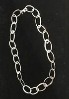 SILPADA N1667 Hammered Sterling Silver Link Necklace