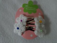 summer mini hair clips, clips slides snap clips crochet flower hair accessories