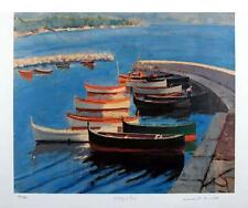 """SIR WINSTON CHURCHILL """"A STUDY OF BOATS"""" - LITHOGRAPH, LIMITED EDITION 150, COA"""