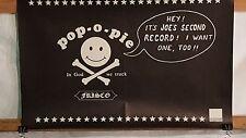 POP-O-PIES Joe's Second Record 11x17 Record Store Promo Poster XLNT COND. 80's