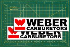 Weber Carburetors racing formular1  Race & Rally Touring Car Racer Stickers..