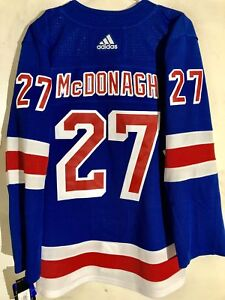 adidas Authentic NHL ADIZERO Jersey New York Rangers Ryan McDonagh Blue sz 46
