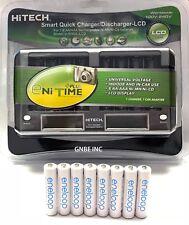 New 8 Panasonic Eneloop AAA BK-4MCCA Ni-MH, 8 Bay rapid LCD smart AA/AAA charger