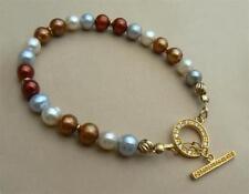 "Freshwater Beaded Cultured 8 - 8.49"" Fine Pearl Bracelets"