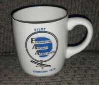 MADE IN USA Coffee cup Mug EAA Experimental Aircraft Association Oshkosh 1975