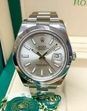 Rolex Datejust II 116300 41mm silver Dial 2017 WITH PAPERS