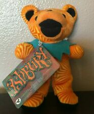 Grateful Dead Teddy Bean Stuffed Bear~Ashbury Orange/Teal Turquoise Blue NWT