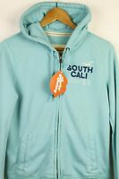 Womens HOLLISTER Hoodie SOUTH CALI WAVES Hooded ZIPPER Sweater SLIM Large P34