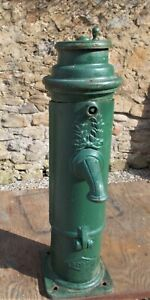 Antique Cast Iron water pump, French,top handle, water feature, architectural