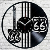 Route 66 Vinyl Record Wall Clock Decor Clock Home Fan Art 12'' 30cm Wanduhr 262