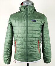 Patagonia Nano Puff Hoody Jacket Mens S small green full zip coat 84221 $249