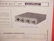1970 PEARCE-SIMPSON CB RADIO SERVICE SHOP MANUAL MODEL WILDCAT