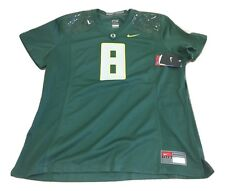 NWT NEW Oregon Ducks Nike #8 Women's Game Replica Green Football Jersey Medium