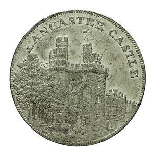 Lancashire Lancaster Penny Token 1794  A Seward  D&H 2  In White Metal  R