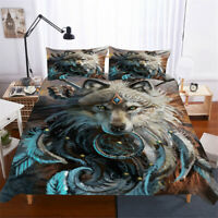 3D Wolf Dream Catcher Duvet Cover Set Animal Quilt/Comforter Cover Pillowcase