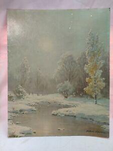 Vintage Lithograph Robert Spencer Winter Wonderland 16x20 Creative Manor 403