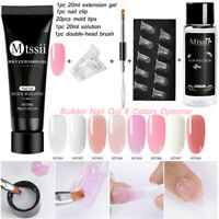 MTSSII 20ml Poly Quick Building Gel Nails Extension Slip Solution Tools Set Kits