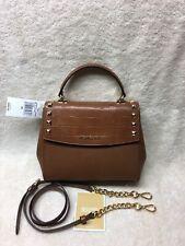 NWT Women's Micheal Kors Karla 35F8GKGS6K Medium Leather Convertible TH Satchel