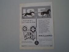 advertising Pubblicità 1961 BOLEX PAILLARD PROIETTORE 18-5
