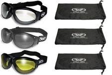 3 Padded ATV Motorcycle Goggles Googles + BAGS Clear Dark Yellow New Burning Man