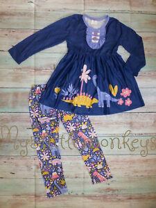 NEW Dinosaur Tunic Dress & Leggings Boutique Girls Outfit Set