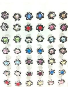 36 Pairs Of 925 Sterling Silver Gem Style STUDS WHOLESALE LOTS