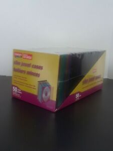 50 Pack of Staples Slim Jewel Cases Fit CD or DVD