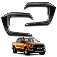 Front Side Bumper Guard Cover Wildtrak Black 2 Pc For Ford Ranger T6 2015 - 2017