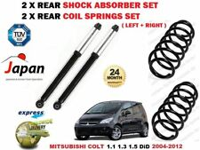 FOR MITSUBISHI COLT 2004-2012 2X REAR LEFT RIGHT SHOCK ABSORBERS +2 COIL SPRINGS