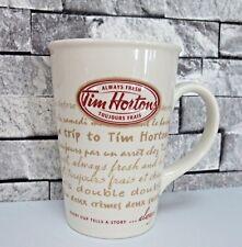 Tim Hortons 2009 Coffee Tea Mug Every Cup Tells A Story Hockey French English