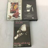 Vintage Elton John Cassette Lot 3  Music Classic Rock Pop 80s 90s