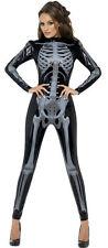 Fever Miss Whiplash Skeleton Catsuit Adult Costume Size Medium