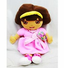 "DORA THE EXPLORER PRINCESS PINK DRESS SOFT CUDDLE PILLOW 24"" PLUSH-NEW W/TAGS"
