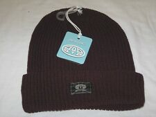 15bdd4e835d BNWT - ANIMAL Ribbed Wool Blend Beanie Hat Deep Mauve