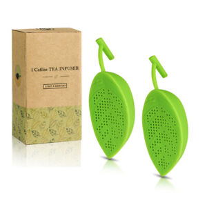 2PK Tea Infuser Loose Leaf Strainer Silicone Herbal Spice Filter Diffuser Tool