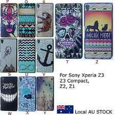 Shokproof Pattern Painted Hard Case Cover For Sony Xperia Z3 Z3 compact Z2 Z1