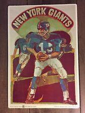 "New York Giants 1968 NFL vintage sign -  8"" x 11 1/2"" -classic logo"