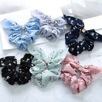 Lovely Women Adjustable Bow Knot Hair Rope Ring Tie Scrunchie Ponytail Holder