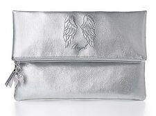 Victoria's Secret Angel Fold Over Clutch in Silver New in package