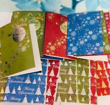 PREMIUM QUALITY FOIL CHRISTMAS CARDS ENVELOPES A5 metallic large GREETING 300gsm