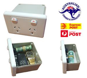 XL Power Point Stash Box Hidden Wall Safe Can Secret Diversion Powerpoint Outlet